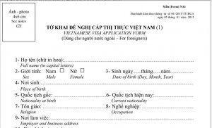 visado para viajar a Vietnam